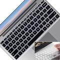2PCS Lapogy Keyboard Cover for Microsoft Surface Laptop Go 12.4 Inch(2020),Ultra Thin Clear Soft-Touch Keyboard Skin,Surface Laptop Go (2020) Accessories, Us Layout,Black+Clear