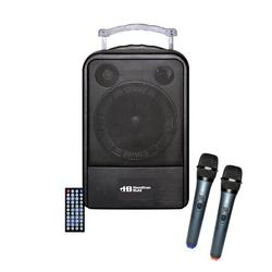 """Hamilton Buhl VENU100A PA System; Features DVD/CD/MP3 Player; Bluetooth Enabled; 60W Power Output; 10"""" Woofer Speaker; AC Adapter, Remote Control, and UHF Wireless Handheld Microphones Included"""
