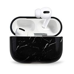 Case for Airpods Pro Case,HIDAHE AirPods Pro Case Cover,Airpods Pro Accessories, Airpods Pro Skin, AirPods Pro Case Cute Girls Kids Protective Cover Case Compatible for Airpods Pro Case, Black Marble