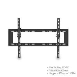 TV Wall Mount Bracket for Most 32-70 Inch LED/LCD/OLED and Plasma Flat Screen TV, Low Profile TV Bracket Wall Mount up to VESA 600x400mm and 110lbs