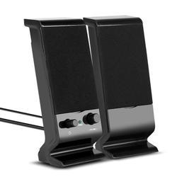 Computer Speakers, PC Desktop Speakers Wired 3.5mm with Subwoofer, USB Powered Multimedia 2.0 Channel for Desktop, Windows, Laptop, Tablets, Smartphone, PC, PS4, Mac, Projectors(Speaker 2.0)