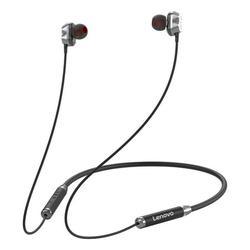 Lenovo HE08 Neck Hanging Wireless Bluetooth Headphone In-ear Earphone IPX5 Waterproof Sports Earbud with Noise Cancelling Mic Black