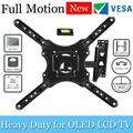 Full Motion TV Wall Mount Monitor Wall Bracket with Swivel and Articulating Tilt Arm, Fits 32 35 37 40 42 47 50 55 Inch LCD LED OLED Flat Screens up to 66 lbs and VESA 400x400