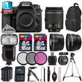 Nikon D7500 Camera + AF-P 18-55mm VR + Pro Flash + Extra Battery + 1yr Warranty