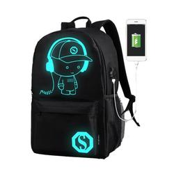Spree-Backpack Laptop Backpack Travel Backpack Luminous Animation Backpack Usb Charge Computer Anti-Theft Laptop Backpack Outdoor Backpack