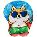 EXCOVIP 3D Anime Mouse Pad, Corgi Dog Ergonomic Mouse Mat Pad with Gel Wrist Rest Support, Gaming Mouse Pad with Milk Silk Cloth, Non-Slip PU Base for Computer, Laptop, Office