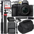 Nikon Z50 Mirrorless Digital Camera with 16-50mm Lens & Must-Have Starter YouTube Vlogging Bundle - Includes: SanDisk Ultra 64GB SDXC Memory Card + Universal Unidirectional Condenser Microphone + MORE