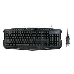 Gaming Keyboard Carving Characters Keyboard Wired Backlit Keyboard Ergonomic Keyboard Switchable Crack Backlit