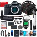 Canon EOS 5D Mark IV DSLR Camera Body Only Bundle + Battery Grip + Premium Accessory Bundle Including 64GB Memory, Extra Battery, Filters, Corel Software Package, Shoulder Bag & More