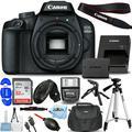 Canon EOS 4000D / Rebel T100 DSLR Camera (Body) - Pro Bundle Includes: Sandisk Ultra 32GB SD, Flash, Tripod, Gadget Bag, HDMI Cable and More