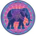 """Round Mouse Pad, Mandala Elephant Mouse Pad, Colorful Animal Gaming Mouse Mat Waterproof Circular Small Mouse Pad Non-Slip Rubber Base MousePads for Office Home Laptop Travel, 7.9""""x0.12"""" Inch"""