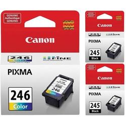 Genuine Canon PG-245 Black Ink Cartridge - 2 Pieces (8279B001) + Canon CL-246 Color Ink Cartridge (8281B001), Canon CL-246 Color Ink Cartridge.., By Visit the Canon Store