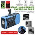 VONTER [2021 Upgraded Version] Emergency Solar Hand Crank Radio, NOAA Weather Radio for Emergency with AM/FM, LED Flashlight, Reading Lamp, 2000mAh Power Bank and SOS Alarm