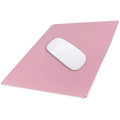 Aluminum Metal Mouse Pad Gaming Mouse Pad Aluminum Mouse Pad, Mouse Pad with A Smooth Precision Surface and Non-slip Rubber Base Rose gold