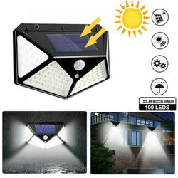 Alvage LED Solar Lights Outdoor Motion Sensor with 3 Lighting Modes, 270° Wide Angle Lighting, IP65 Waterproof. Wireless Security Solar Powered Flood Lights for Outside Fence Wall Yard