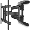 ONKRON TV Wall Mount Bracket for 42 to 70 Inch LCD LED Flat Curved Screen TVs Full Motion VESA up to 600 x 400 mm Black (M6L)