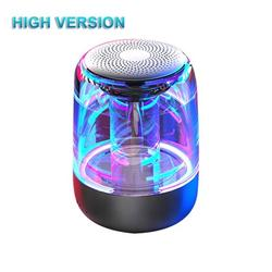 JuLam C7 Bluetooth 5.0 Speaker Transparent LED Luminous Subwoofer TWS 6D Surround HIFI Stereo Cool Audio