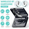 Wireless Bluetooth Earphone Bluetooth5.0 Single-ear Business Headphone Headset 360° Rotatable Long Standby In-Ear Earphone with Microphone for IOS Android