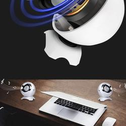 Computer USB-Power Speakers, Mini Desktop Speakers with HiFi Sound,Superior Stereo Sound,Double Horn, Perfect for Computer,Laptop (White)