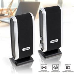Computer Speakers with Stereo Sound for PC, Laptop, Cellphone, 6W USB Powered Small Multimedia Speakers
