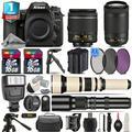Nikon D7500 Camera + AF-P 18-55mm VR + 70-300mm VR + Extra Battery + 1yr Warrant