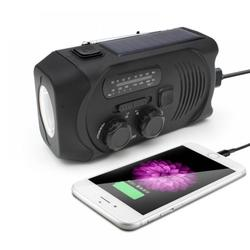 Solar Radio AM/FM Multi-function Radio,Hand Crank Dynamo LED Flashlight,Weather Alert Radio,Powered AM/FM NOAA Solar Weather Radio, for Outdoors, Camping, Backpacking, Lithium Battery 2000MAH
