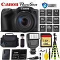 Canon PowerShot SX420 is Digital Point and Shoot Camera + Extra Battery + Digital Flash + Camera Case + 128GB Class 10 Memory Card + 2 Year Extended Warranty (Total of 3YR) - Intl Model