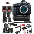 Canon EOS 5D Mark IV Digital SLR Full Frame Camera Body Only (1483C002) Professional Bundle package: Battery Grip + Replacement Battery (2CT) + MORE