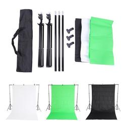EBTOOLS Photo Backdrop Stand Set 6.6x6.6feet/2x2M Background Stand Backdrop Support System Kit Photo Video Studio Adjustable Heavy Duty Background Support with Carrying Bag