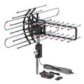 AMSUPER Outdoor TV Antenna, Long Range Antenna, 4K 1080P VHF UHF Digital HDTV Antenna, J Mount Included, Weather Resistant, Indoor Attic Mountable