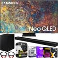 Samsung QN75QN90AA 75 Inch Neo QLED 4K Smart TV (2021) Bundle with HW-A650 3.1ch Soundbar and Subwoofer with Premium 2 Year Extended TV Protection Plan Kit Deco Gear 2 Pack HDMI Cables