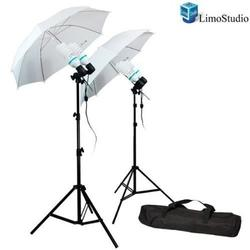 Limostudio 1200 Watt Photography Video Photo Portrait Studio Umbrella Continuous Lighting Kit With 4X 85 Watt Daylight Cfl Bulb 5500K And Umbrellas, Case For Product, Portrait And Video Shoot, Agg336