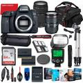 Canon EOS 6D Mark II DSLR Camera with 24-105mm USM & 75-300mm III Lens Bundle + Battery Grip + Premium Accessory Bundle Including 64GB Memory, Extra Battery, Photo/Video Software Package, Bag & More