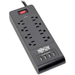Tripp Lite Home Office Surge Protector with USB Charging, 8 Outlet Surge Protector Power Strip, 4 USB Ports, 6ft Cord, 1800 Joules, Black (TLP864USBB),.., By Visit the Tripp Lite Store