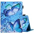 Universal Case for 9.6-10.5 Inch Tablet - Leather Wallet Stand Case Compatible with Fire HD 10 2021/ Onn 10.1 Pro/ Lenovo Tab 10.1 10.3/ iPad 9.7/ Galaxy Tab 9.6 9.7 10.1 10.4 10.5 Inch (Butterfly F)