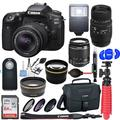 Canon EOS 90D DSLR Camera with 18:55mm & 70:300mm Dual Lens Bundle & Additional Accessories