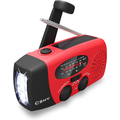 Emergency Radio, Esky Hand Crank Solar Powered Portable AM/FM NOAA Weather Radio with LED Flashlight, 1000mAh Power Bank Phone Charger, Great Household and Outdoor Emergency Supplies, Upgr