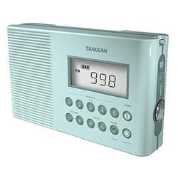 Sangean H201TQ Portable AM/FM/Weather Alert Digital Tuning Waterproof Shower Radio (Torquise)