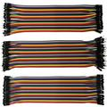 3 Rows 20cm Length Jumper Wire Cable Multicolored 40-pin M To F, M To M, F To F Each 40 Pin