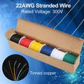 22AWG Stranded Wire, 6 Colors (30 Feet Each) Electrical Wire, Tinned Copper Hookup Wire Kit 22 Gauge 300V for DIY, Flexible, PVC insulated
