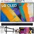 """LG OLED55GXPUA 55 inch GX 4K Smart OLED TV with AI ThinQ 2020 Model Bundle with Deco Gear 31 inch Soundbar, Flat Wall Mount, 6-Outlet Surge Adapter and TV Essentials 2020(OLED55GX 55GX 55"""" TV)"""