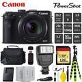 Canon Digital Camera Point and Shoot Digital Camera + Extra Battery + Digital Flash + Camera Case + 128GB Class 10 Memory Card - Intl Model