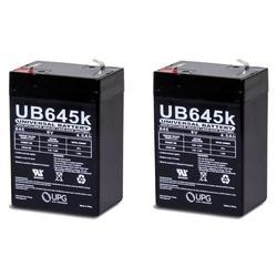 6v 4000 mAh UPS Battery for Agt Battery LA640 - 2 Pack, UB645 - PACK OF 2 By Universal Power Group