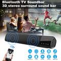 Soundbar, TV Sound Bar with Subwoofer, Wired & Wireless Bluetooth Home Theater Stereo Speaker, Bluetooth 5.0 Audio Speakers for TV/PC, Bass Surround Sound Soundbar for Phones/Tablets, Support Aux/USB