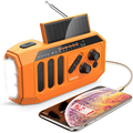 AOMAIS Emergency Radio, 5000mAh Hand Crank Solar Weather Radio, NOAA/AM/FM Portable Radio with LED Flashlight&Reading Lamp, USB Cell Phone Power Charger, SOS Alarm for Home, Camping&am