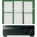 """Sony 5.2-Channel 725-Watt 4K A/V Home Theater Receiver + Polk 8"""" 2 Way High-Performance Natural Surround Sound In-Wall Speaker System (Set Of 6) (Discontinued)"""