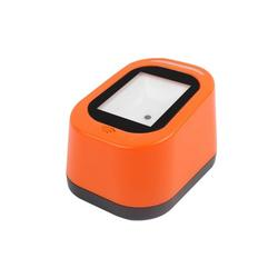 Eccomum Wired Barcode Scanner USB Versatile Scanning Hands-free Scan QR Code 1D&2D Code Reader for Supermarkets/Stores (Orange)