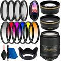 Nikon AF-S DX NIKKOR 18-300mm f/3.5-6.3G ED VR Lens Filter Bundle - Includes: 6PC Gradual Color Filter Set + Professional Telephoto Lens Attachment + 0.43X Wide Angle Lens Attachment + More