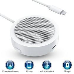 CuDock Speaker Phone Cord Cell Phones Speakers Rechargable Speakers Portable Adroid Speaker Speaker Plug In Wall White
