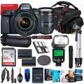 Canon EOS 6D Mark II DSLR Camera with 24-105mm USM Lens Bundle + Battery Grip + Premium Accessory Bundle Including 64GB Memory, Extra Battery, Filters, Photo/Video Software Package, Bag & More